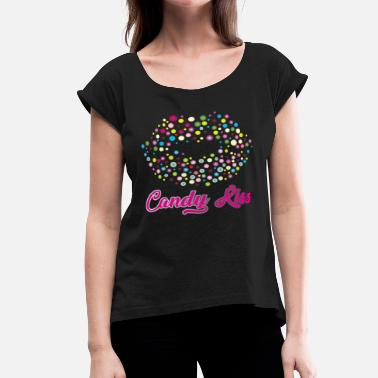 Confection Candy Kiss - Women's Roll Cuff T-Shirt