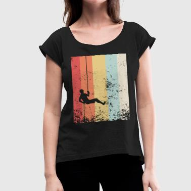 Distressed Vintage Rock Climbing Rappelling boyfri - Women's Roll Cuff T-Shirt