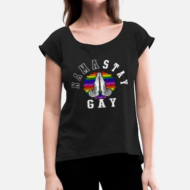 Homosexual Pansexual Asexual Gay Pride Parade LGBT Lesbian Gay Bi Trans Queer Pan Dark - Women's Roll Cuff T-Shirt
