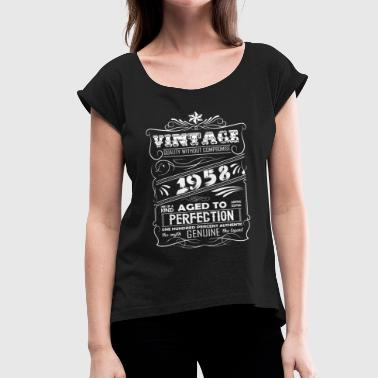 Vintage Aged To Perfection 1958 - Women's Roll Cuff T-Shirt