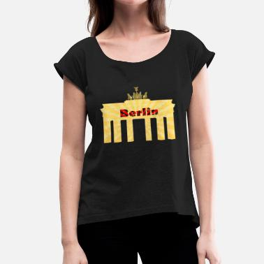 Capital Of Germany Berlin Capital City of Germany - Women's Roll Cuff T-Shirt