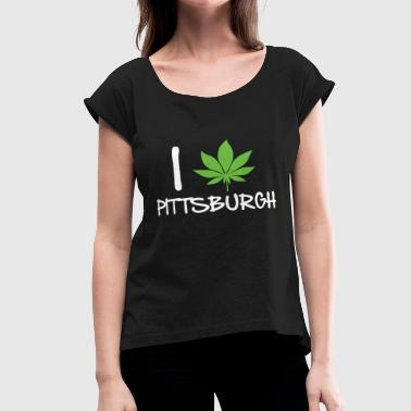 Pittsburgh - pittsburgh - Women's Roll Cuff T-Shirt