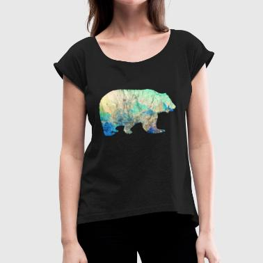 Bear Mountains Vintage Gift Idea - Women's Roll Cuff T-Shirt