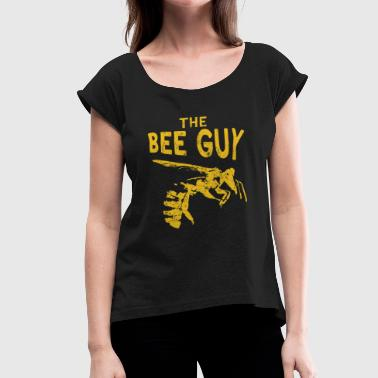 Funny Bee Keeper Design for Men Honey Bee Keeper for Guys - Women's Roll Cuff T-Shirt