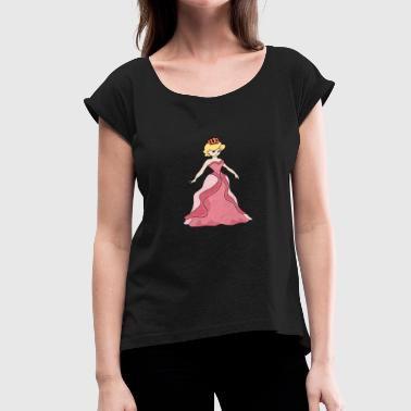 Tykes princess elegant beautiful gift idea - Women's Roll Cuff T-Shirt