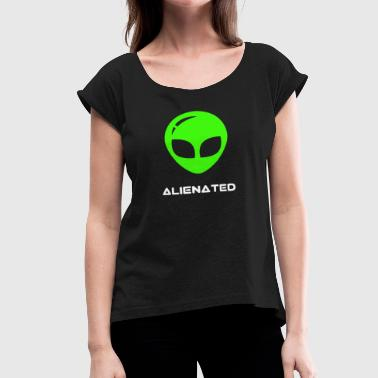 Flat White alienated flat white green - Women's Roll Cuff T-Shirt