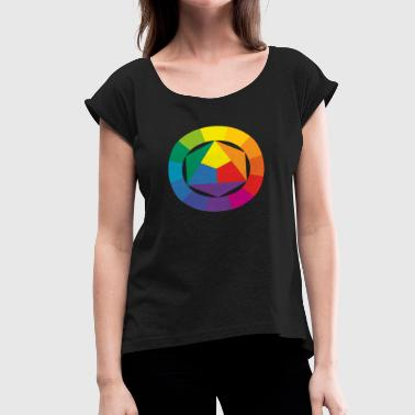 Color Circle - Women's Roll Cuff T-Shirt