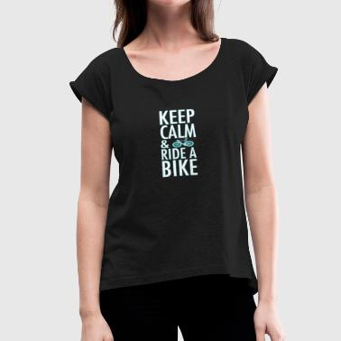 Bike Riding Lovers ride a bike - Women's Roll Cuff T-Shirt