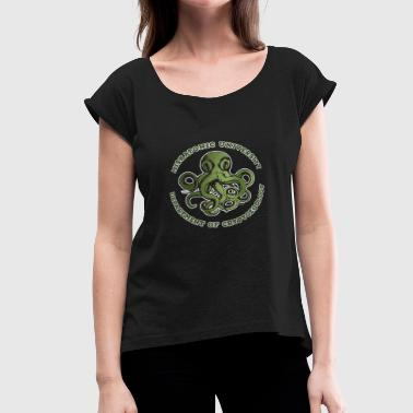 CTHULHU TEE CRYPTOZOOLOGY DEPT - Women's Roll Cuff T-Shirt