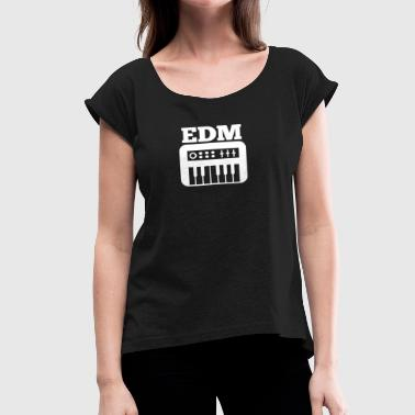Synth EDM Synth - Women's Roll Cuff T-Shirt