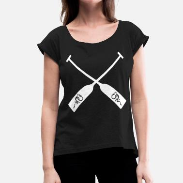Dragon Boat Dragon Boat Racing Team Paddle Dragonboat 1c - Women's Roll Cuff T-Shirt