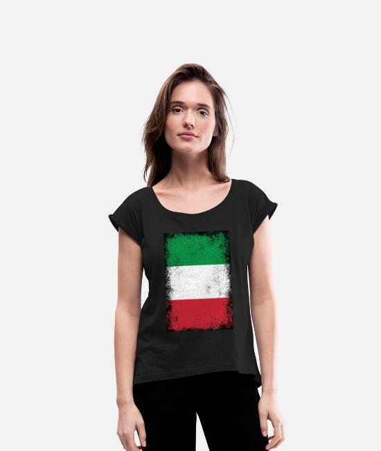 Italian Heartbeat Flag Novelty Toddler Kid Baby Boys Girls Long Sleeve T Shirts Tops