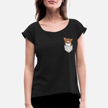 1c43c14b5c3b Chihuahua In Pocket Chihuahua dog pocket cute small little - Women's  Rolled. Women's Rolled Sleeve T-Shirt