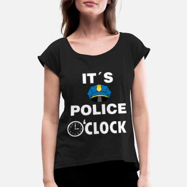 Police Station Police Cop Police Officer Police Station Gift - Women's Rolled Sleeve T-Shirt