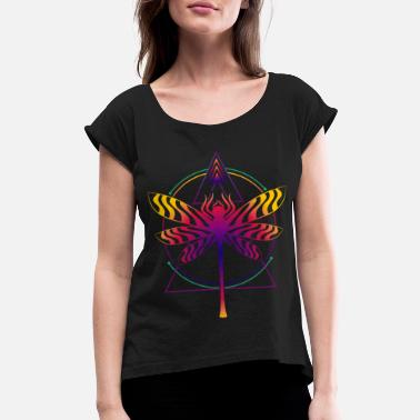 Sacred Geometry Sacred Geometry Goa Dmt Psychedelic - Women's Rolled Sleeve T-Shirt