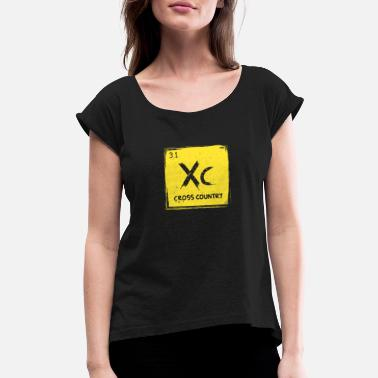 Cross Dressing Cross Country Runner Gift Running Periodic Table - Women's Roll Cuff T-Shirt