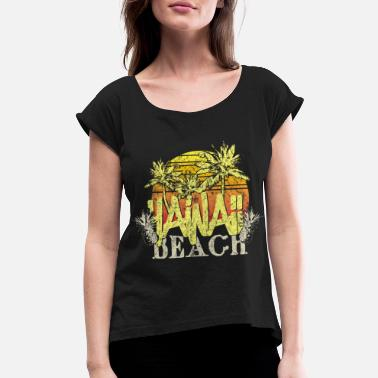 Beach Volleyball Beach Hawaii - Women's Rolled Sleeve T-Shirt