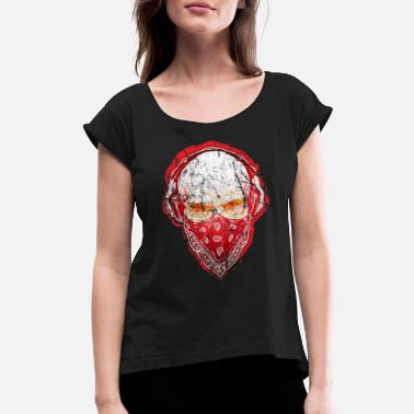 Skull Pictures Skull - Women's Roll Cuff T-Shirt