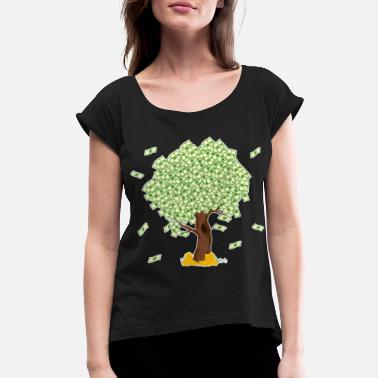 Dollar Tree of Money Tshirt Design For those who wants - Women's Rolled Sleeve T-Shirt
