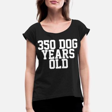 50 Year Old Birthday 50 years old birthday present - Women's Roll Cuff T-Shirt