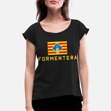 Formentera FORMENTERA NATIONAL FLAG - Women's Rolled Sleeve T-Shirt