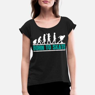 Skater Inline Skater Evolution - Women's Rolled Sleeve T-Shirt