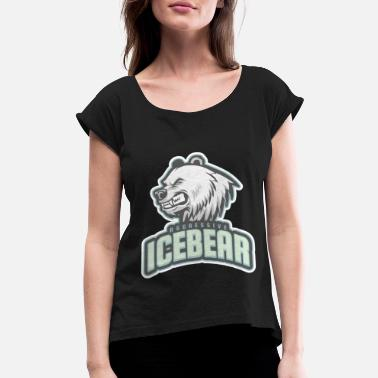 Aggressive aggressive icebear - Women's Rolled Sleeve T-Shirt