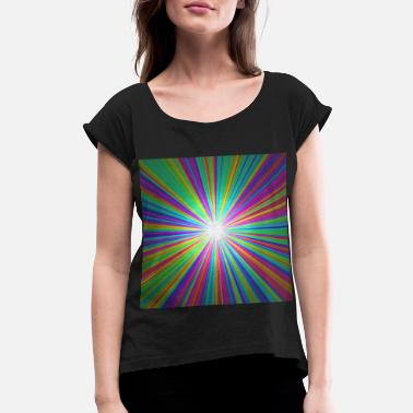 Ray Of Light Rainbow ray of light - Women's Rolled Sleeve T-Shirt