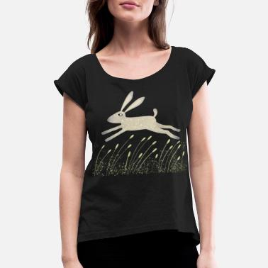 Meadows Hare in a Meadow - Women's Rolled Sleeve T-Shirt