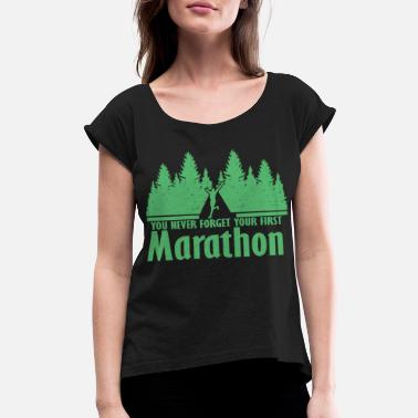 Marathon Marathon Marathon Marathon Marathon - Women's Rolled Sleeve T-Shirt