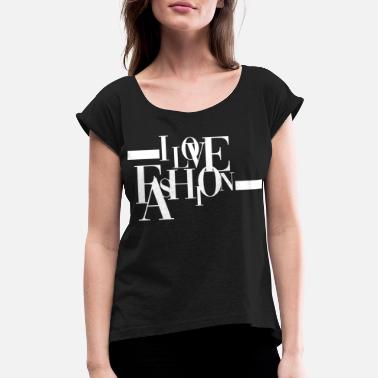 Model Model Model Model Model - Women's Rolled Sleeve T-Shirt