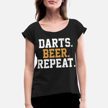Bar Pub Dart Beer Bar Pub Vintage Arrow - Women's Rolled Sleeve T-Shirt