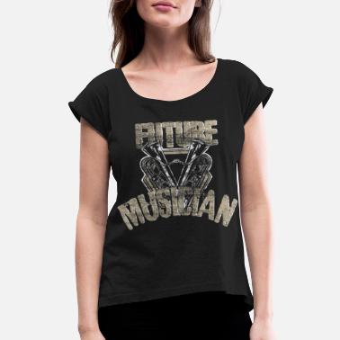 Electro Music Musician Sound gift idea - Women's Rolled Sleeve T-Shirt