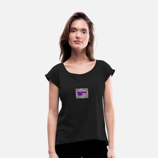Channel T-Shirts - Channel dolly news - Women's Rolled Sleeve T-Shirt black
