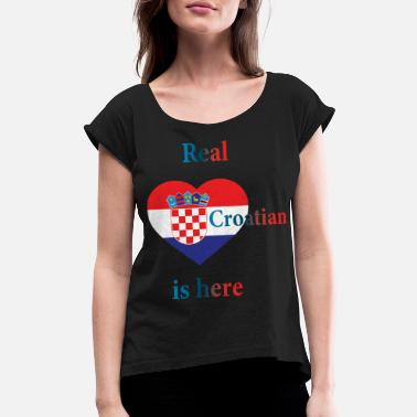 Europe Croatia EU Europe - Women's Rolled Sleeve T-Shirt