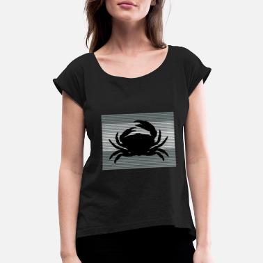 Crab crab crab - Women's Rolled Sleeve T-Shirt