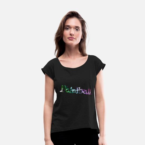 Ball T-Shirts - Paintball - Women's Rolled Sleeve T-Shirt black