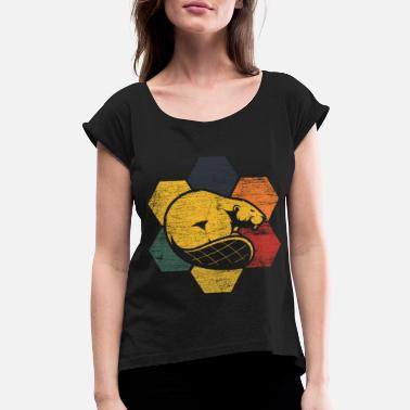 Beaver Tail Beaver - Women's Roll Cuff T-Shirt