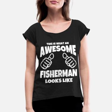 Carp Cool thumbs up from - Women's Rolled Sleeve T-Shirt