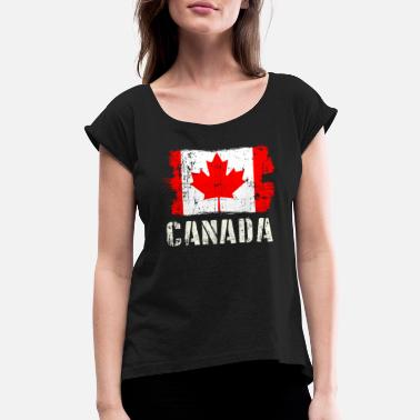 Montreal French Canada World Championship Canada Shirt - Women's Roll Cuff T-Shirt