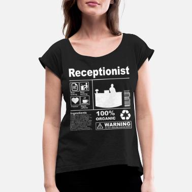 Secretary Receptionist Product Description - Women's Rolled Sleeve T-Shirt