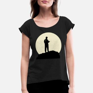 Moon Fantastic Geneticist And Moon Design - Women's Rolled Sleeve T-Shirt