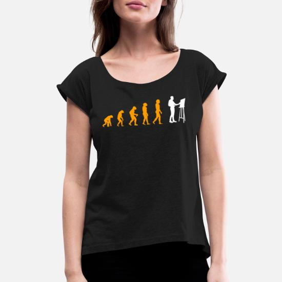 Evolution Of Painting Amazing Tee Women's Rolled Sleeve T
