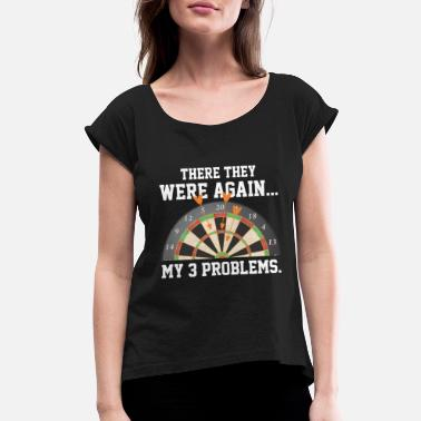 Triple Darts - Funny Team Dart Player Triple 20 - Women's Rolled Sleeve T-Shirt