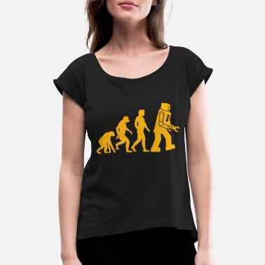 Big Sheldon Cooper Big Bang Theory Inspired Evolution - Women's Rolled Sleeve T-Shirt