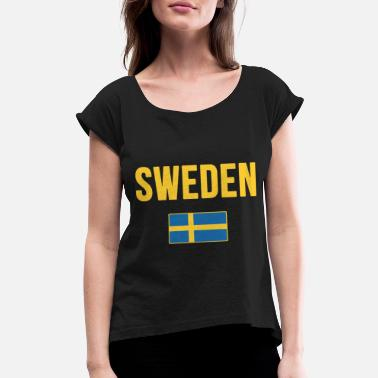 sweden birthday t shirts - Women's Roll Cuff T-Shirt