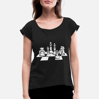 Chess Chess chess piece - Women's Rolled Sleeve T-Shirt