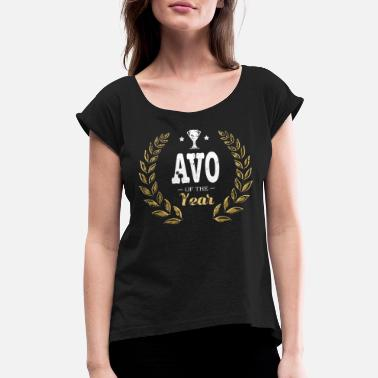 Portugal Portuguese Avo Of The Year Portuguese Portugal - Women's Roll Cuff T-Shirt