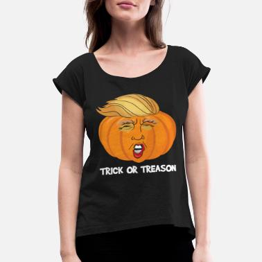 facb5fd9 Anti Donald Trump Halloween Edition Vote For Dems Dark - Women's  Rolled. Women's Rolled Sleeve T-Shirt