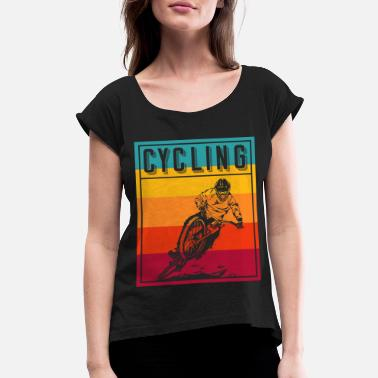 Nice Cycling Bike - Women's Rolled Sleeve T-Shirt